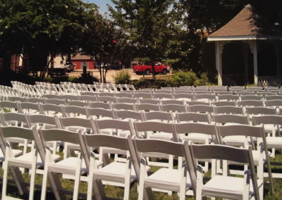 Outside event with chairs